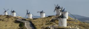 Don Quixote Windmill Panorama, Consuegra, Castile-La Mancha, Spain, Europe by Charles Bowman