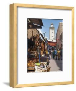 Grand Mosque and Street Scene in the Medina, Essaouira, Morocco, North Africa, Africa by Charles Bowman