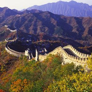 Great Wall Of China Autumn by Charles Bowman