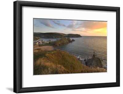 Hope Cove Devon coast at sunset