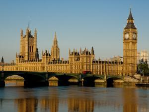 Houses of Parliament and Big Ben, Westminster, London by Charles Bowman