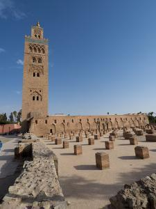 Koutoubia Mosque, Marrakech, Morocco, North Africa, Africa by Charles Bowman