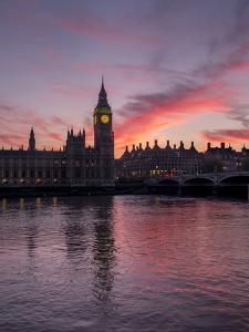 London Big Ben evening by Charles Bowman