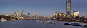 London City panorama with Blackfriars Bridge at dusk by Charles Bowman