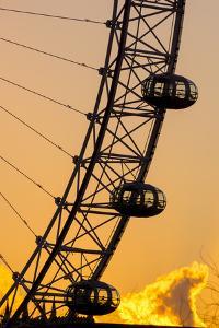 London Eye (Millennium Wheel), South Bank, London, England, United Kingdom, Europe by Charles Bowman