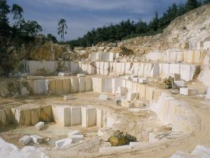 Marble Quarry, Greece by Charles Bowman