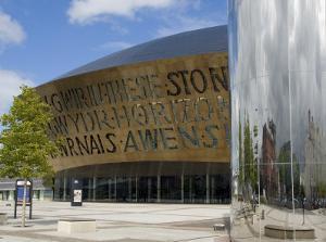 Millennium Centre, Cardiff, Wales (Cymru), United Kingdom by Charles Bowman