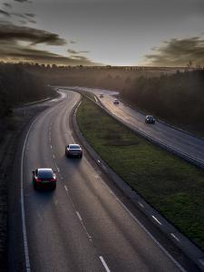 Motorway A31 daylight, Surrey, England, United Kingdom, Europe by Charles Bowman