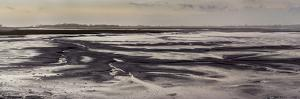 Mud flats of Pagham Harbour nature reserve are softly lit at low tide by Charles Bowman