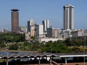 Nairobi Skyline From Uhuru Park, Nairobi, Kenya, East Africa, Africa by Charles Bowman