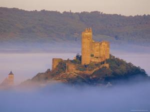 Najac Castle, Aveyron, Midi Pyrenees, France, Europe by Charles Bowman