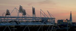 Olympic Stadium Shard by Charles Bowman