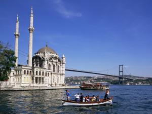 Ortokoye Mosque and Bosphorus, Istanbul, Turkey, Eurasia by Charles Bowman