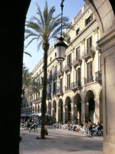 Placa Reial, Barcelona, Catalonia (Cataluna) (Catalunya), Spain by Charles Bowman