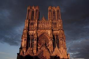 Reims Cathedral France west front by Charles Bowman