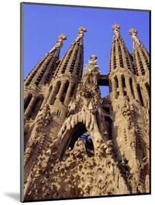 Sagrada Familia Cathedral by Gaudi, East Face Detail, Barcelona, Catalonia, Spain by Charles Bowman