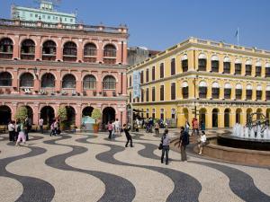 Senate Square, Macau, China by Charles Bowman