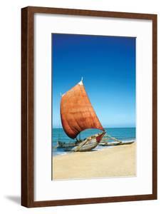 Sri Lanka Fishing Boat by Charles Bowman