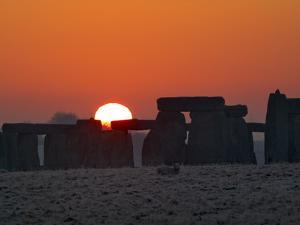 Stonehenge, UNESCO World Heritage Site, at Sunrise, Wiltshire, England, United Kingdom, Europe by Charles Bowman