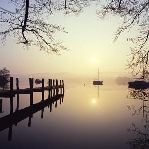 Sunrise Over Derwentwater by Charles Bowman