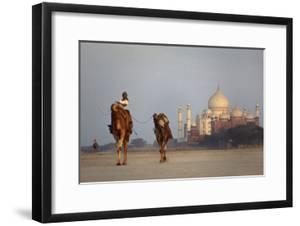 Taj Mahal Camels by Charles Bowman