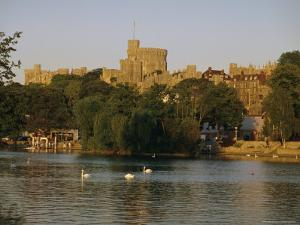 The River Thames and Windsor Castle, Windsor, Berkshire, England, UK, Europe by Charles Bowman