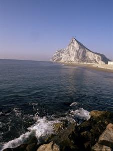 The Rock of Gibraltar, Mediterranean by Charles Bowman