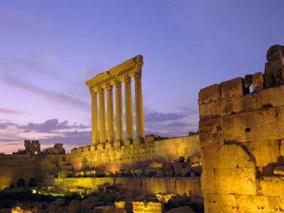 The Temple of Jupiter, Baalbek, Bekaa Valley, Lebanon