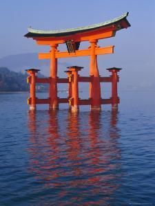 Torii, Miya Jima (Itsuku-Shima) Island, Japan by Charles Bowman