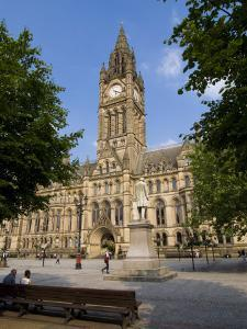 Town Hall, Manchester, England, United Kingdom, Europe by Charles Bowman