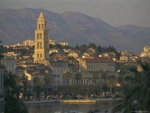Town Skyline, Split, Croatia, Europe by Charles Bowman