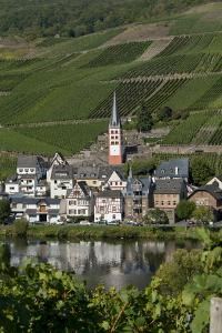 Zell Church on River Mosel, Zell, Rhineland-Palatinate, Germany, Europe by Charles Bowman