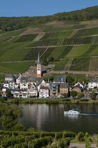 Zell On Moselle River Germany by Charles Bowman
