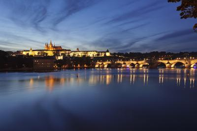 Charles Bridge and the Castle District with St. Vitus Cathedral and Royal Palace-Markus-Photographic Print