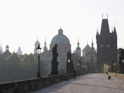 Charles Bridge, Church of St. Francis Dome, Old Town Bridge Tower, Old Town, Prague, Czech Republic-Martin Child-Photographic Print