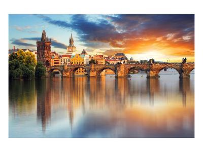 Charles bridge Czech Republic--Art Print