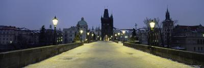 Charles Bridge in Winter Snow, Prague, Unesco World Heritage Site, Czech Republic, Europe-Gavin Hellier-Photographic Print