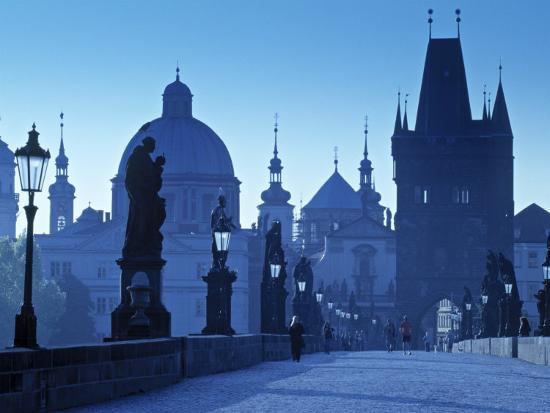 Charles Bridge, Prague, Czech Republic-Walter Bibikow-Photographic Print