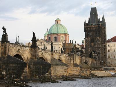 Charles Bridge, UNESCO World Heritage Site, and River Vltava, Prague, Czech Republic, Europe-Godong-Photographic Print