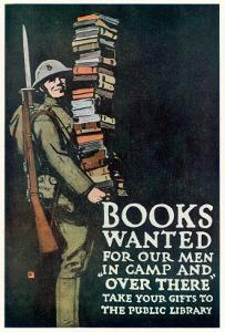 Books Wanted for Our Men In Camp and Over There by Charles Buckles Falls