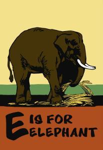 E is for Elephant by Charles Buckles Falls