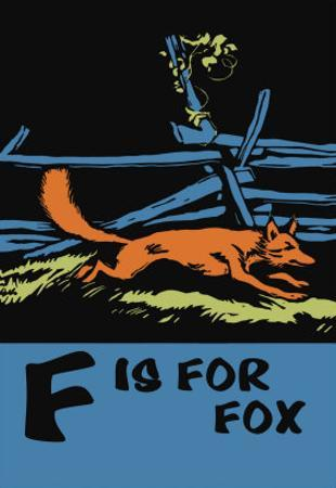 F is for Fox by Charles Buckles Falls