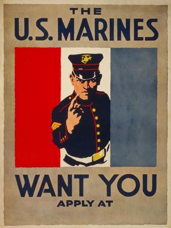 The U.S. Marines Want You, circa 1917