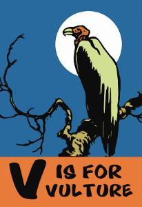 V is for Vulture by Charles Buckles Falls