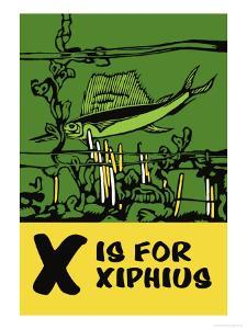 X is for Xiphius by Charles Buckles Falls