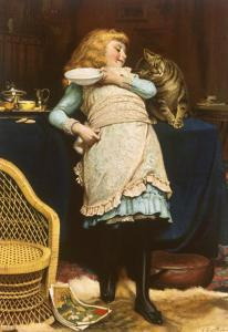 Coaxing Is Better Than Teasing by Charles Burton Barber