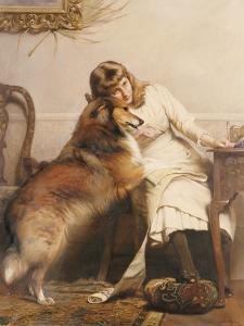 Sweethearts, 1890 by Charles Burton Barber