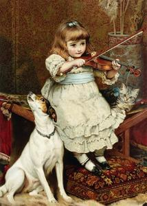 The Broken String by Charles Burton Barber