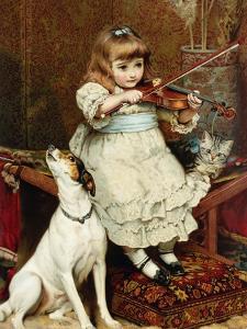 The Broken String by Charles Burton Barber