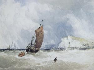 The Pilot Boat Off Fecamp, Normandy by Charles Burton Barber